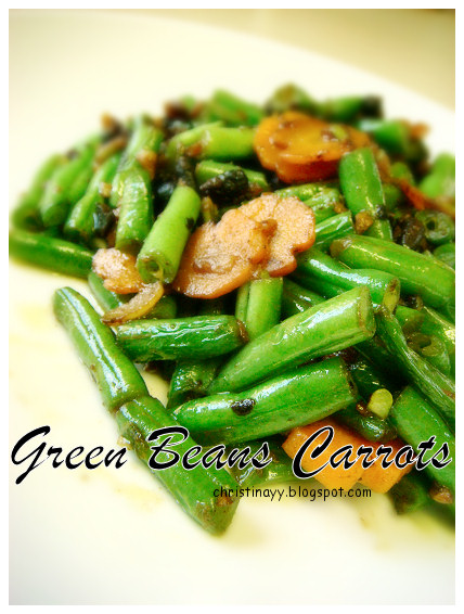 Home-Cooking: Stir Fried Green Beans with Carrots
