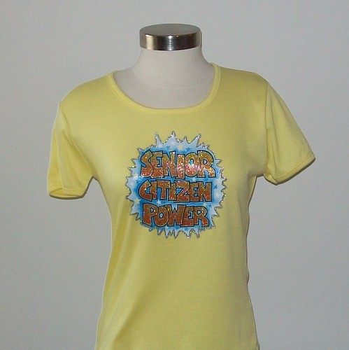 Vintage SENIOR POWER T-Shirt Size Small