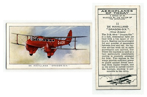 010-De Havilland 'Dragon-Six' (Great Britain). (ca. 1923-1930)