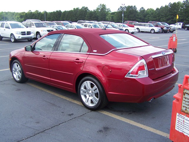 red ford fusion 2007 vinyltop