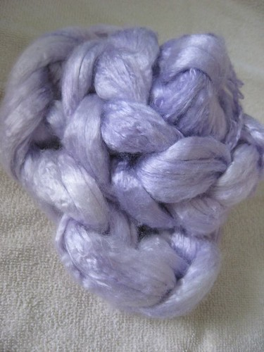 Pale purple bamboo fiber