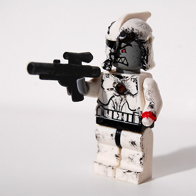 lego zombie clone red Leader custom minifig