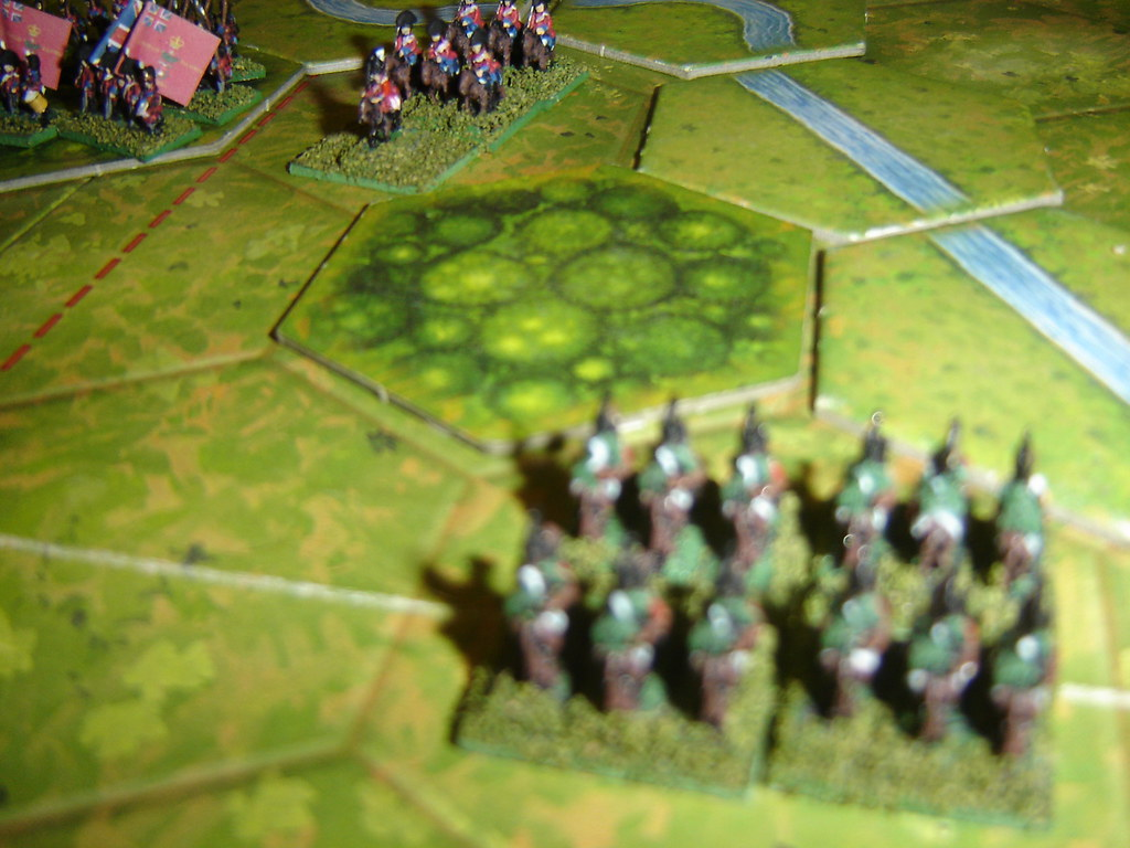 French hussars destroy English horse artillery