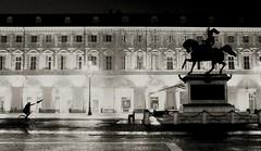 Don Chisciotte (Emmanuele Contini) Tags: self torino piazzasancarlo donchisciotte contnibb fotografinewitaliangeneration