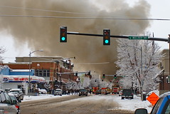 Bozeman, MT Natural Gas Explosion- Crop (fotohayes) Tags: energy montana bozeman downtown explosion northwestern 2009 blast naturalgas 359 brianhayes bozemanmt 30509 fotohayes naturalgasexplosion northwesternenergy