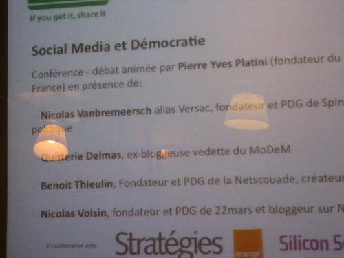 Social Media et Démocratie, une conférence publique du Social Media Club 3