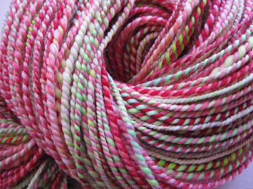 2-ply hand-spun yarn