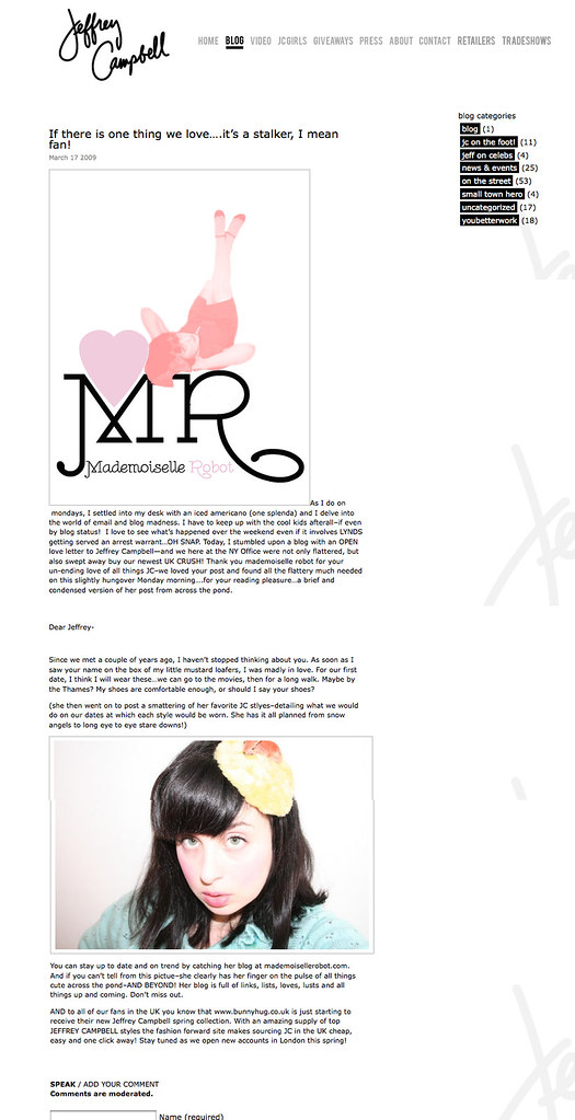MR on Jeffrey Campbell's blog
