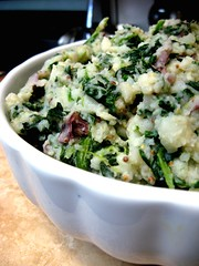 Stone Ground Spinach Mashed Potatoes