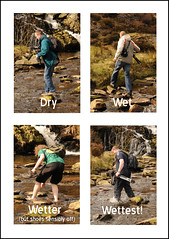 How to cross a stream... (nezza74) Tags: chris wet stream jake dry lee danny wetter wettest shropshirecommunityflickrmeetlakevyrnwy