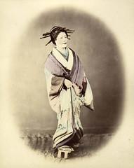 Japanese courtesan (noel43) Tags: japan japanese district prostitute prostitution redlight felice pleasure meiji courtesan yoshiwara beato oiran tayu tayuu kamuro