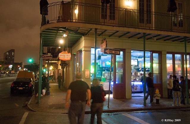 A late night street corner - Decatur St. - French Quarter - New Orleans