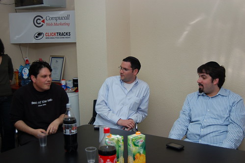 Gilad Sasson, Mayer Reich & Barry Schwartz at SEM Meetup Tel Aviv, Israel