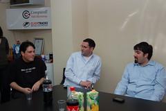 Gilad Sasson, Mayer Reich & Barry Schwartz at SEM Meetup Tel Aviv, Israel