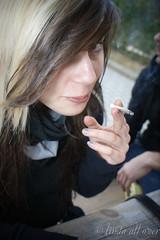 Giulia (linda_all_over) Tags: all smoke sony over fisheye linda zenitar giulia nissin a350