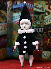 a Black Clown (LeeJaeYeon) Tags: original art doll handmade clown creative bisque porcelain leejaeyeon