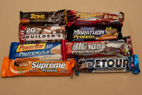 8 protein bars