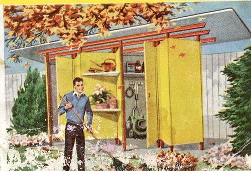 Mid Century Modern Garden Shed, Originally Uploaded By Reclark.