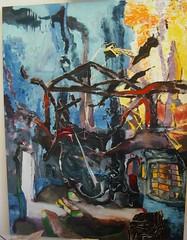 Burnt out (christophmuegge) Tags: colour art k modern germany painting 21 nacht auction contemporary kunst fine arts canvas oil expressive christoph düsseldorf der 2009 k21 junge christies lange kunstakademie museen kunstsammlung glaskuppel auktion ständehaus muegge