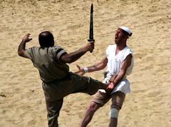 Barbarian Fight, Jerash (sentex64) Tags: fight kick battle blow jordan sword jerash jordanien groin jordanie jordania barbarian renactment gerasa giordania   painrace