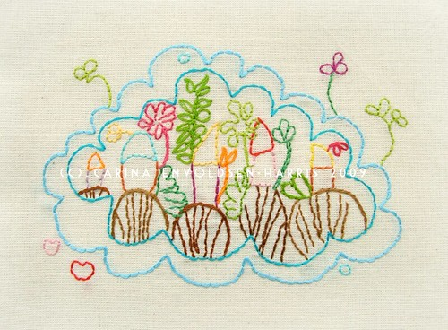 Happyscape Spring embroidery pattern