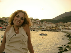 Summer smile (Faddoush) Tags: summer portrait smile nikon hellas greece parga mysterygirl sepcia faddoush