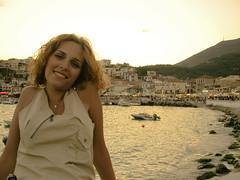 Summer smile (Faddoush) Tags: summer portrait smile nikon hellas greece parga mysterygirl sepcia faddoush