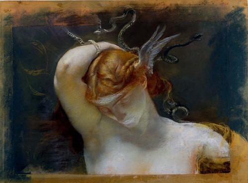 studio per la figura della gorgone..