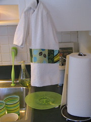 hanging up! (ohioholly) Tags: kitchen sewing towels patchwork
