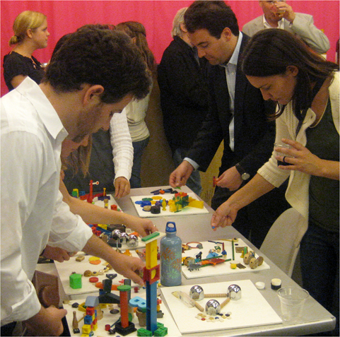 Participants build their own transit systems