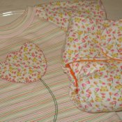 *Multi-stage medium* Little Starter fitted with appliqued shirt