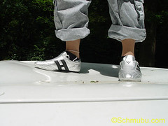 trampled (footfreak101) Tags: girls cars feet fetish walking high jumping women top bare arches crushing barefoot heels females stomping trample trampling destroying denting