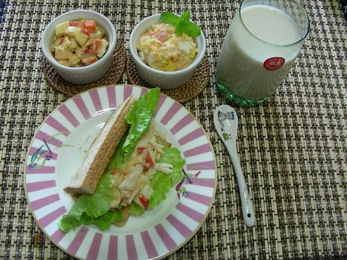 薯泥蛋沙拉早餐