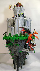 Tower Rock (DARKspawn) Tags: tower castle rock flying dragon lego witch wizard citadel fantasy coven classiccastle
