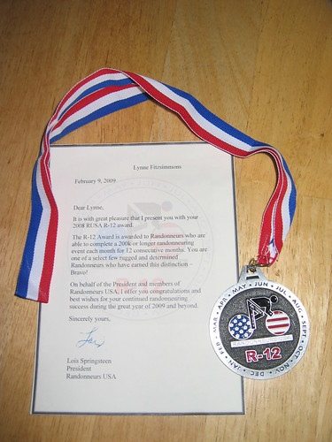 R-12 Medal and letter
