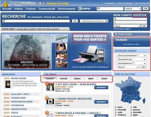 Dailymotion en partenariat avec Digitick