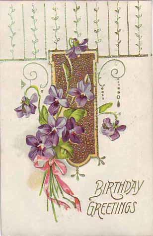 birthday greetings pansies