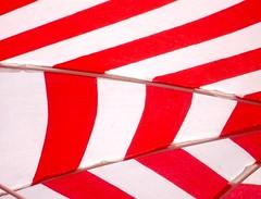 Red and white. (rps.net) Tags: red brazil white sunshade santos parasol beachumbrella