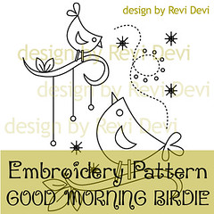 good morning birdie (revi1001) Tags: birdie forest branch embroidery etsy embroiderypattern revidevi revi1001