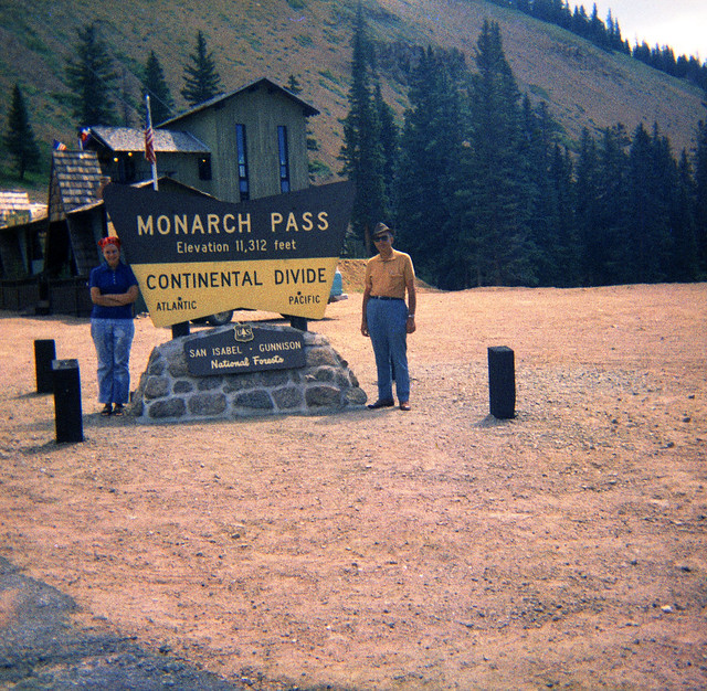 1970s Laurie Ekwall - Trip to Colorado 11 - Laurie Irene Ekwall and Kenneth Lee Ekwall at Monarch Pass