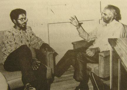Walter Rodney of the Working People's Alliance and Cheddi Jagan of the People's Progressive Party both of the South American nation of Guyana. Rodney was assassinated in June 1980. by Pan-African News Wire File Photos