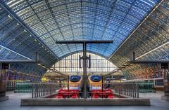 St Pancras (almonkey) Tags: roof london station nikon eurostar platform victorian railway trains international ironwork hdr stpancrasstation omot d700 knocksmostconservatoryroofsintoacockedhat