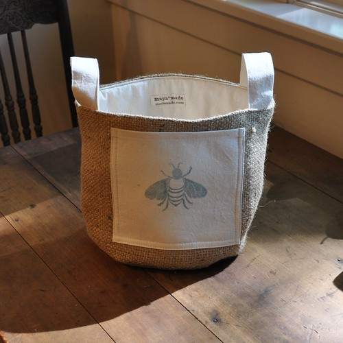 Bee still my heart, a blue bee bucket from Maya