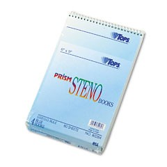Spiral-Steno-Notebook-Gregg-Rule-6-x-9-Blue-Four-80-Sheet-Pads-pack_103215