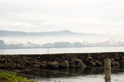 Umu smoke over Apia on Sunday