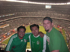 Hube, Edgar and Dennis at the game