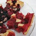 Strawberry and blueberry pie slices