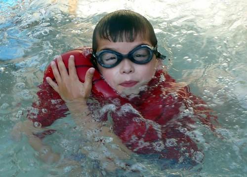 "Carson ""The Hulk"" in the hot tub"