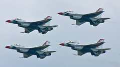Thunderbirds Diamond 1 (driko) Tags: geotagged andrews aviation airshow f16 falcon thunderbirds airforce viper usaf jsoh fightingfalcon