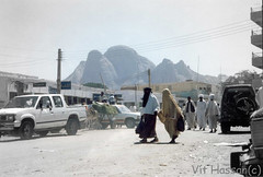 -Life in Kassala- (Vt Hassan) Tags: africa city people woman mountain black cars car walking women image muslim islam sudan religion hijab donkey niqab coloured hidjab totil toka burga kassala kasalla